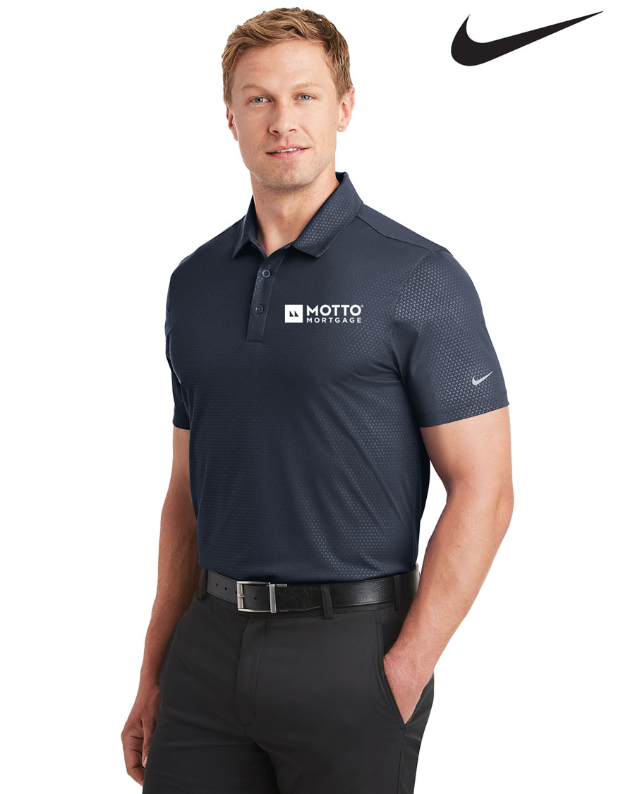 Nike Golf Men's Dri-FIT Embossed Tri-Blade Polo