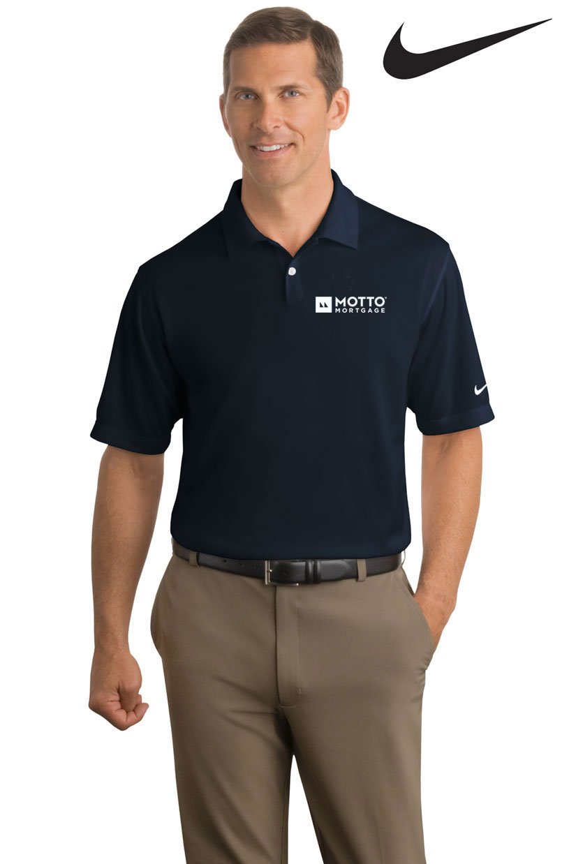 Nike Dri-Fit Polo (Men's) (Navy) - MOTTO