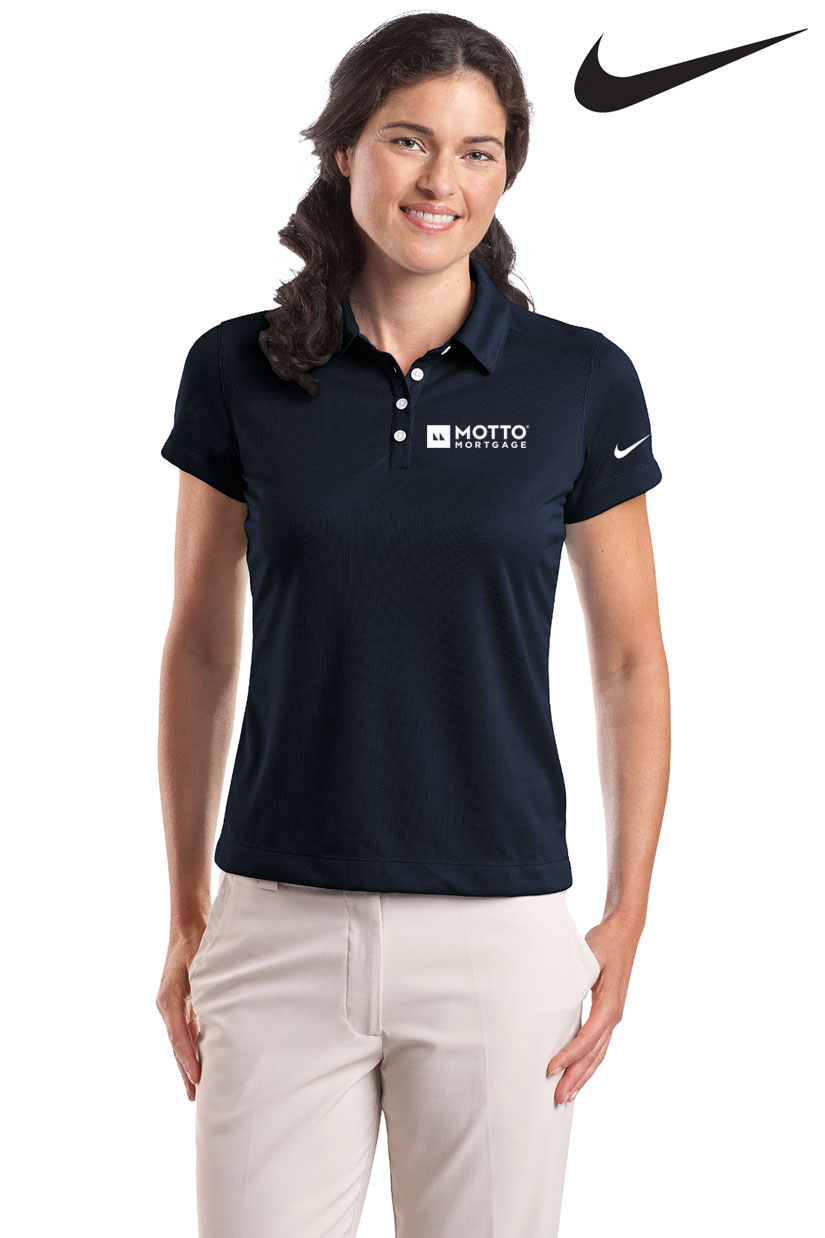 Nike Dri-Fit Polo (Ladies') (Navy) - MOTTO